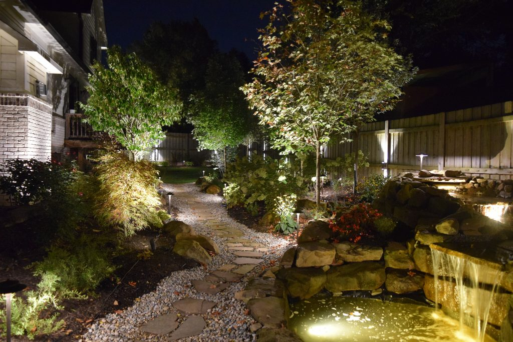 Light Up the Night: Glimmer Landscape Lighting adds beauty and security to your home with a variety of landscape light options.