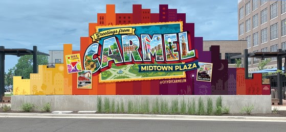 City of Carmel Installs New Photo Opportunity on the Back of the Midtown Screen